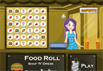 Food Roll Game - Style Bow Dress