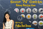 Makeup Matching Game - Style - Polka Dot Dress